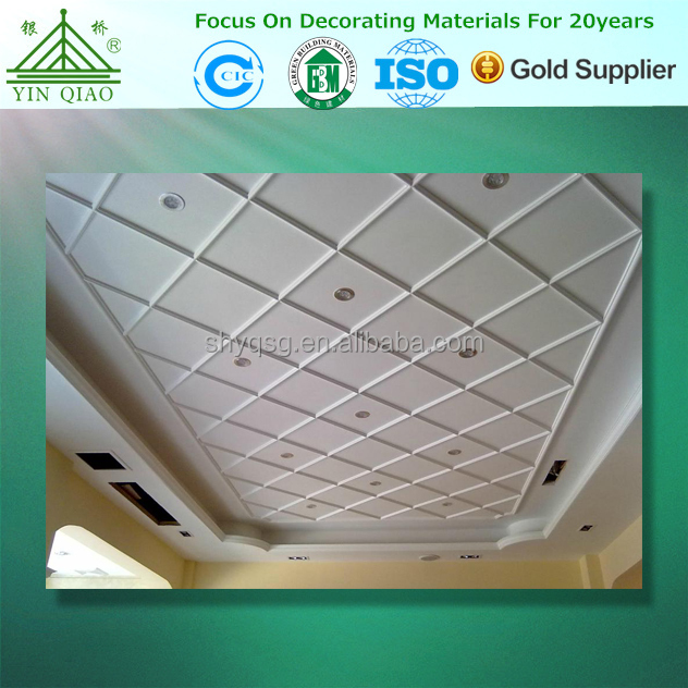 Decoration material gypsum ceiling 3D ceiling design