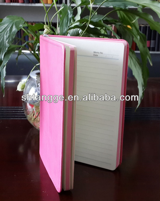 2014 New design pu leather bound diary