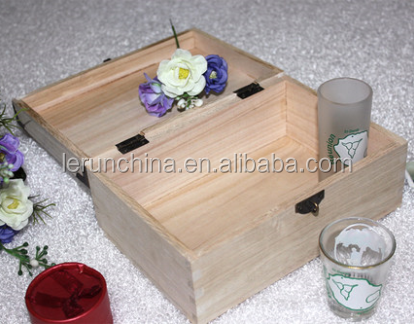 Pine Wood Makeup Gift Box Packaging, Wood Packaging Box alibaba china