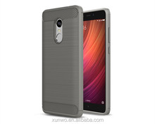 Brush Carbon Fiber Pattern TPU Mobile Phone Case Back Cover For Xiaomi redmi note 3