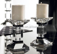 2016 fashion crystal candle stand for wedding decoration