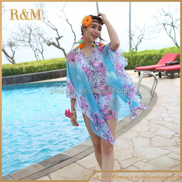 2016 New Floral Design hot sex woman pictures dress woman halter neck beach dress 2016