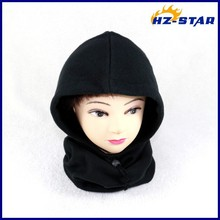 HZM-13255001 custom winter outdoor sports ear and neck care warm normal polar fleece hat