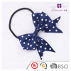 New design handmade fabric bowknot pure color and plaid style hair elastic
