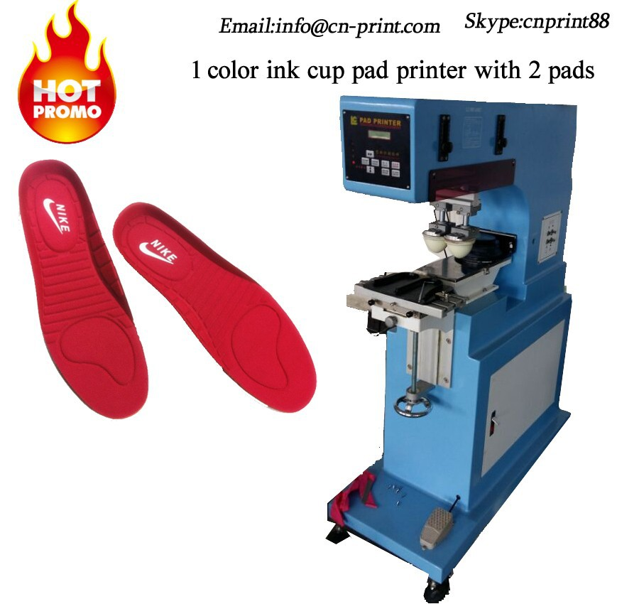 USB Pad Printing Machine for insole ceramic pad printer with 2 pads logo press printing machine