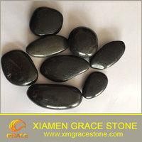 High Polished Black River Stone Natural Pebble Stone