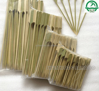 Disposable BBQ bamboo skewer with handle