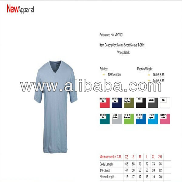 V NECK OEM best quality T-shirts & Apparel at cheap price