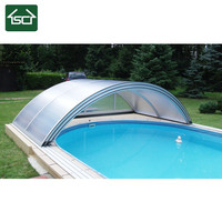 Retractable Swimming pool enclosures with waterproof roofing