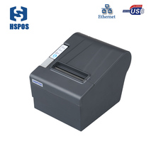 Low price 80mm thermal ticket printer USB and Lan port hotel bill receipt printer with auto cutter for POS printing