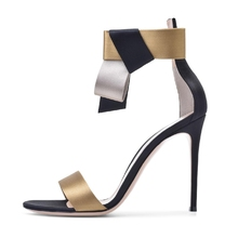 Shoes factory custom fashion ladies sandals 2018 new style women high heel sandals