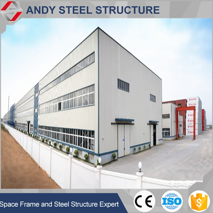 Low cost steel frame bonded warehouse