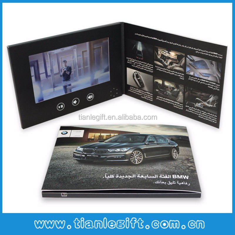 "Hot advertising 7"" inch LCD video player mailable greeting card"