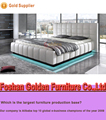 Luxury design low price bed models LED light bed