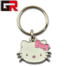 Beautiful Keychain Cat, Promotion Cat Keychains, Cat Custom Metal Keychains