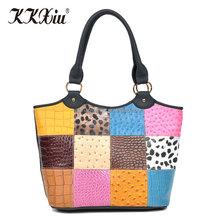 Low price casual black PVC leather female tote hand bags made in China