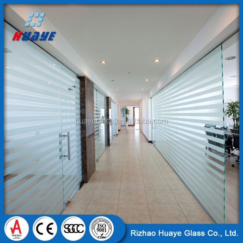 Top Quality door tempered frosted glass room dividers