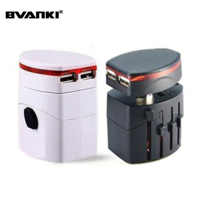 High Quality portable International EU UK US AU <strong>Plug</strong> With Dual 2.1A USB Port Universal Travel Adapter