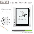 hot selling 13.3 e-ink carta display ebook reader digitizer with stylus e-ink tablet android ereader