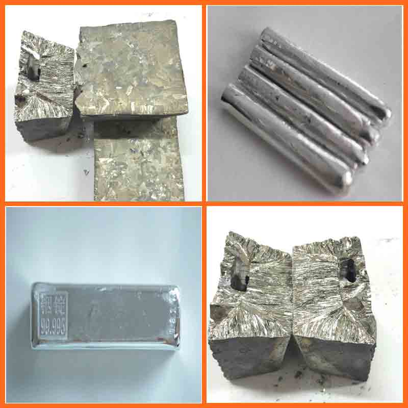 China manufacturer tellurium metal,tellurium ingot metallic bismuth ingot,Indium metal price