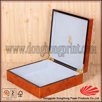 Luxury gold foil wood herbs packaging box