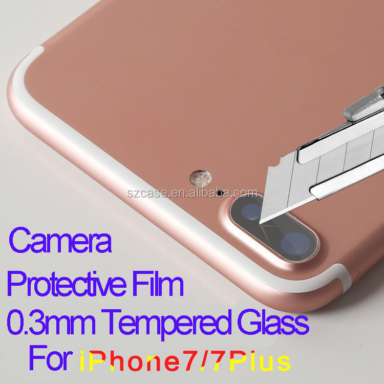 Mobile phone camera lens protective for iphone 7 tempered glass screen protector film for iphone 7 plus