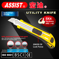 High quality utility knife plastic box cutter safety knife with cutting blade manufacturer tools 18mm utility knife