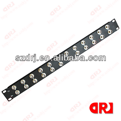 1U 24 ports BNC audio patch panel