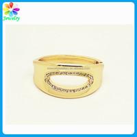 Childs Kid 14K Yellow Gold Etched Slide Bangle Bracelet Spring Buckle Gold Plated Bracelet
