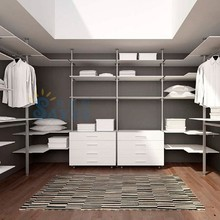 China supplier simple wardrobe 3d model free, wardrobe pole system