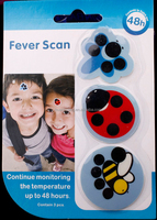 Kids fever scan, temperature real-time monitoring paper thermometer fever scan