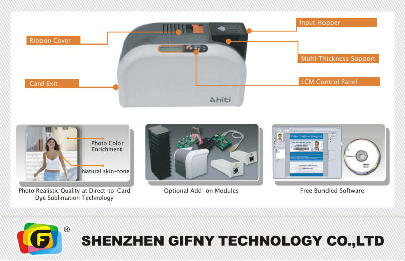 High quality newest HITI CS-200e pvc id card printer