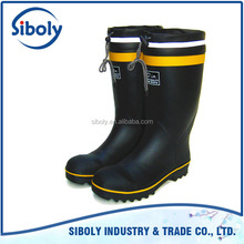 outdoor work men rubber boots high quality custom made gumboots half wellington boots