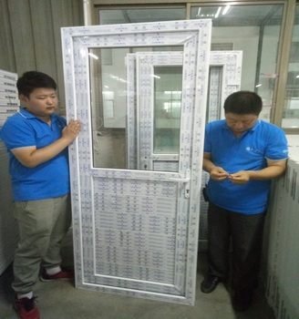 White color high quality CONCH pvc windows and doors