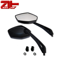 Black Motorcycle Handlebar Side Rearview Mirror For Honda Kawasaki Suzuki Yamaha