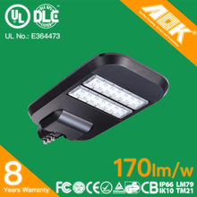 170lm/w UL DLC FCC CE RoHS IP66 Waterproof With Photocell Dimmable 150W 100W LED Street Light