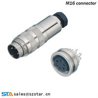 M16 binder electrical connector waterproof spray