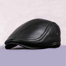 MOON BUNNY New 2016 Design Men's 100% Genuine Leather base ball Cap /Newsboy /Beret /Cabbie Hat/ Golf Hat wholesale MOQ 1set