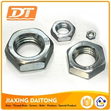DIN936 Hex Thin Nut Hexagon Thin Nuts ISO4035 M3-M24 CL6 CL8 CL10 Plain Black Zinc Plated HDG Carbon/Stainless Steel