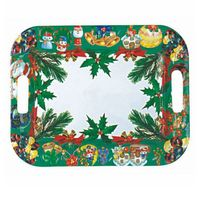 Square christmas pp fruit,dry food plastic plate