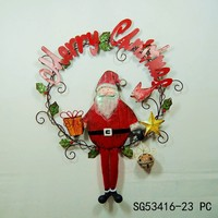 Merry Christmas metal santa claus door decoration