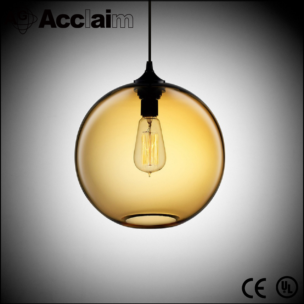 china lighting factory outlet round hand blown glass ball pendant light