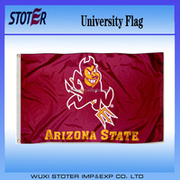 Arizona State Sun Devils with red logo color , hand flag , car flag