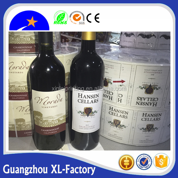 Roll bottle label sticker,Adhesive Sticker, Adhesive Sticker Type and Accept Custom Order temperature indicator label