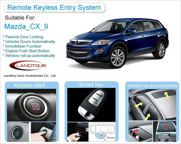 Passive Keyless Entry PKE Push Button Engine Start/Stop for Mazda CX-9