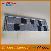 Types Of Roof Tiles Wanael Shingle 50-Year Warranty Stone Coated Steel Roofing Tile, Wood Grain Iron Roofing Tile