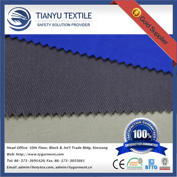 Fire Retardant Stiff Cloth for Work Clothing FR Drill Woven Textile