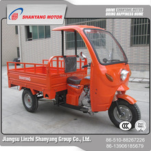 China wholesale merchandise tricycle with driver cabin three wheels motorcycle with wagon