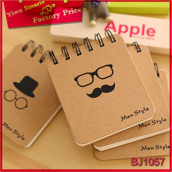 Factory price cheap paper notebooks wholesale funny cute beard design school mini paper note <strong>book</strong>