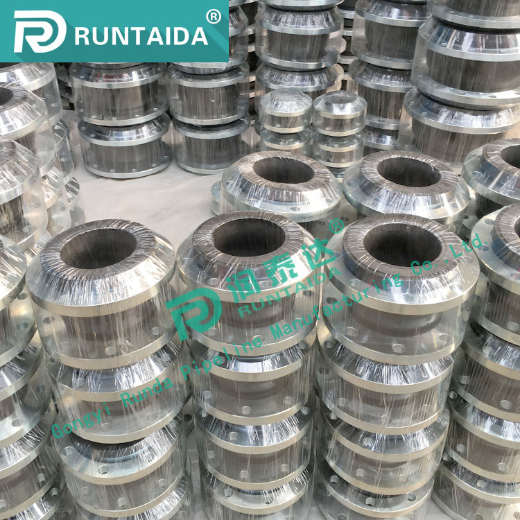 Rubber Expansion Joint Single Sphere With Galvanized Flange Ends